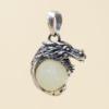 Colgante Dragón con mineral - jade
